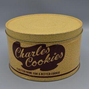 Vintage Retro Charles Chip COOKIES Tin